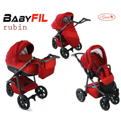Wózek dziecięcy Krasnal BabyFIL ( czerwony )
