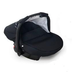 Krasnal fotelik Dziecięcy 0-10 KG (czarny + czarny)