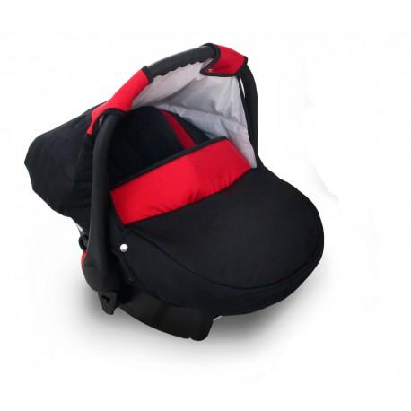 Krasnal fotelik Dziecięcy 0-10 KG czarny+czerwony