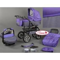 Wózek dziecięcy Krasnal BAVARIO (fiolet+ grafit)