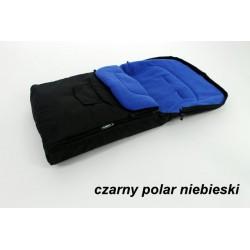 Śpiwór Śpiworek Do Wózków Sanek Polarkowy 90cm [czarny]