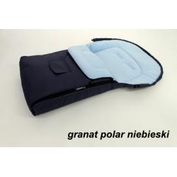 Śpiwór Śpiworek Do Wózków Sanek Polarkowy 90cm [granat]