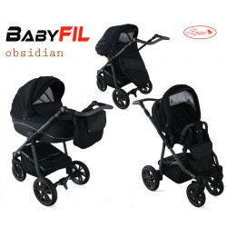 Wózek dziecięcy Krasnal BabyFIL ( czarny )