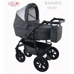 Wózek dziecięcy Krasnal BAVARIO metalic szary