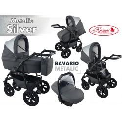Wózek dziecięcy Krasnal BAVARIO metalic [szary]