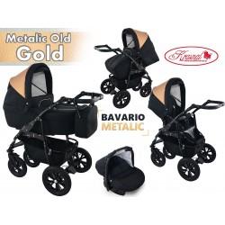 Wózek dziecięcy Krasnal BAVARIO metalic [czarny]