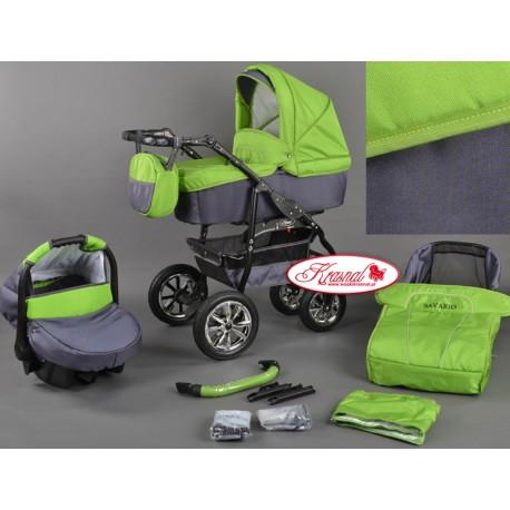 Wózek dziecięcy Bavario (zielony+ grafit)
