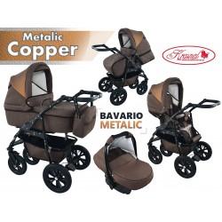 Wózek dziecięcy Krasnal BAVARIO metalic [brązowy]