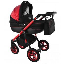 Wózek dziecięcy Krasnal NEXXO mineral DELUX  (czerwony) RED gondola