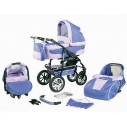 """Wózek dziecięcy Krasnal BAVARIO """" + """" (fiolet + jasny fiolet)"""