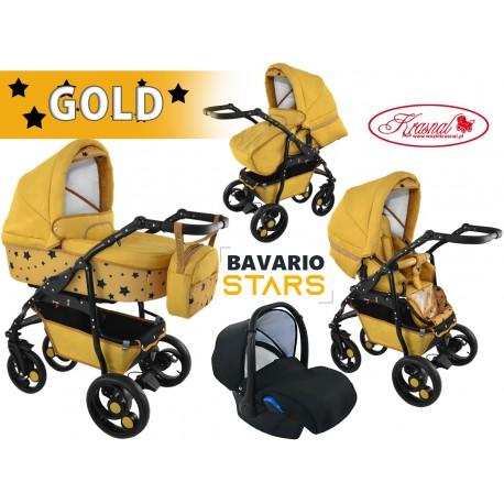 Wózki wielofunkcyjne Krasnal BAVARIO stars złoty