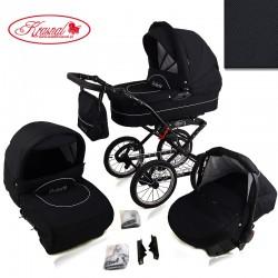 Wózek dziecięcy Krasnal POLARIS retro ( czarny )
