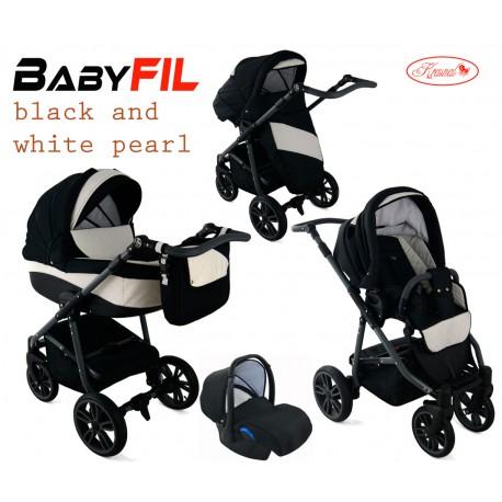 Wózek dziecięcy Krasnal BabyFIL ( czarny + biały )