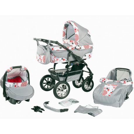 """Wózek dziecięcy Bavario """" + """" (szary+lizaki)"""