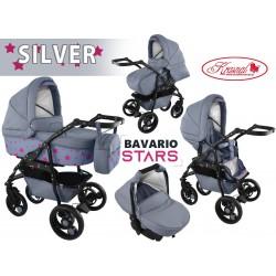 Wózek dziecięcy Krasnal BAVARIO stars [ szary ]