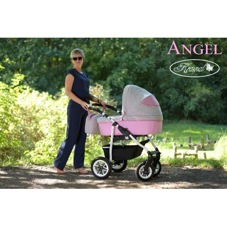 Wózek wielofunkcyjny Krasnal ANGEL różowy