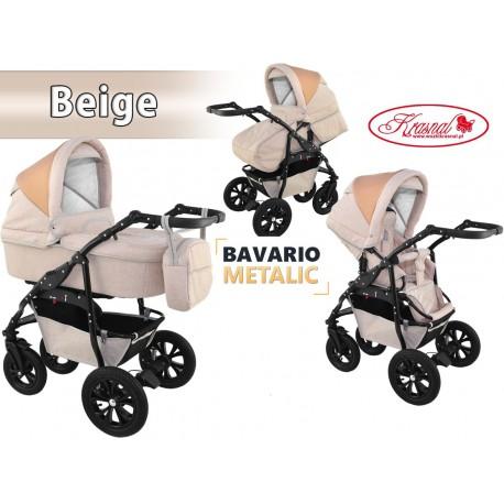 Wózek dziecięcy Krasnal BAVARIO metalic [beżowy]