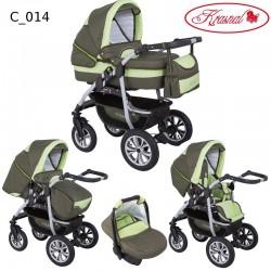 Wózek dziecięcy Krasnal CORAL (oliwka + pistacja)