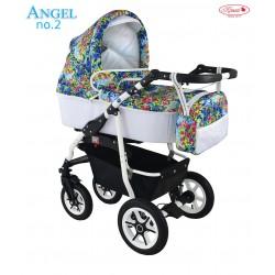Wózek dziecięcy Krasnal ANGEL biały