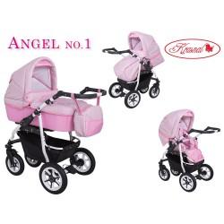 Wózek dziecięcy Krasnal ANGEL różowy