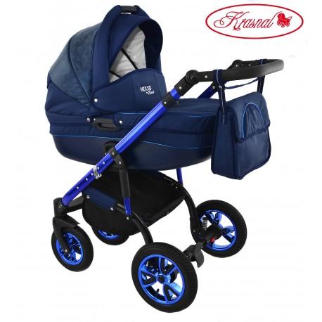 Wózek dziecięcy Krasnal NEXXO mineral DELUX  ( niebieski ] BLUE 1