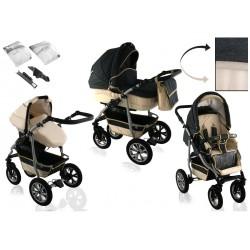Wózek dziecięcy CityGO ( grafit + beż ) LEN