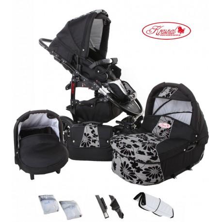Wózek dziecięcy Krasnal Fiorino (czarny + szary) LEN