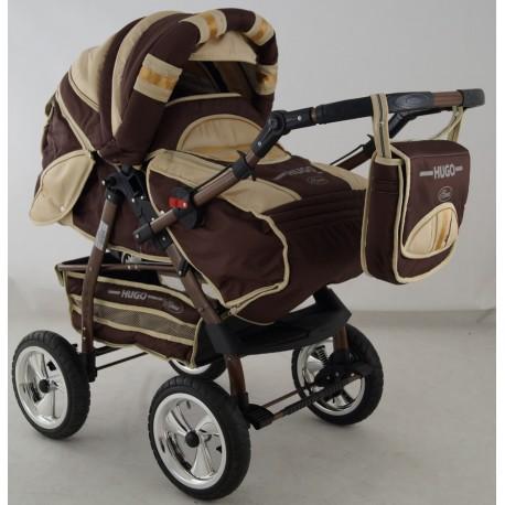 Wózek dziecięcy Krasnal HUGO ( brąz + beż )