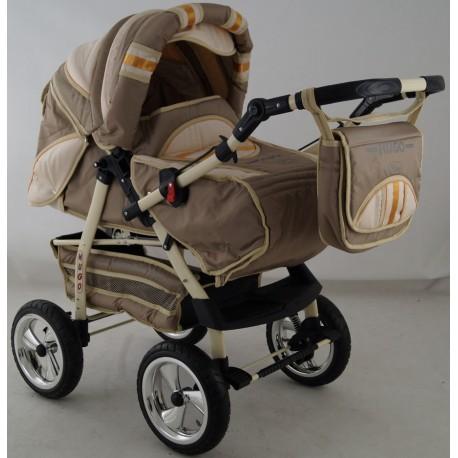 Wózek dziecięcy Krasnal HUGO ( cappuccino + beż )