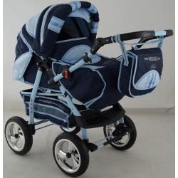 Wózek dziecięcy Krasnal HUGO ( granat+j.niebieski )