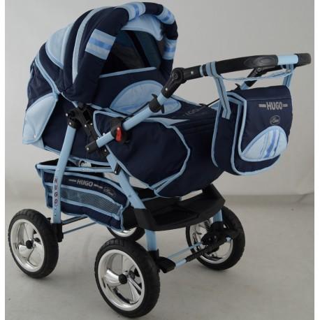 Wózek dziecięcy Krasnl HUGO ( granat+j.niebieski )