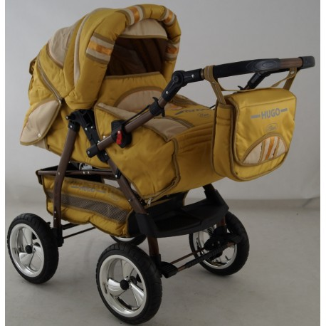 Wózek dziecięcy Krasnal HUGO ( złoty + beż )