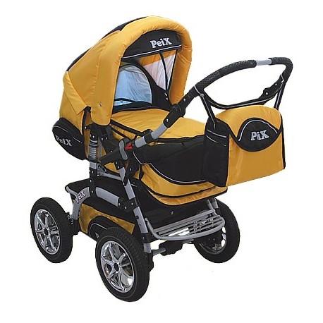 Wózek dziecięcy Peix 01 (żółty + czarny)