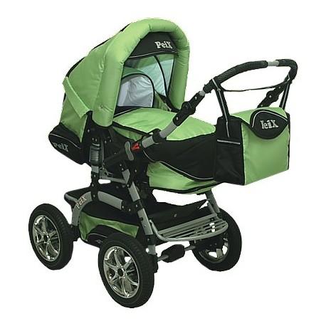 Wózek dziecięcy Krasnal Peix  (zielony + czarny)