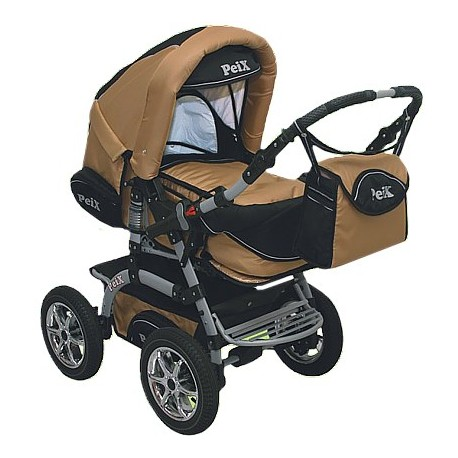 Wózek dziecięcy Peix 03 (złoty + czarny)