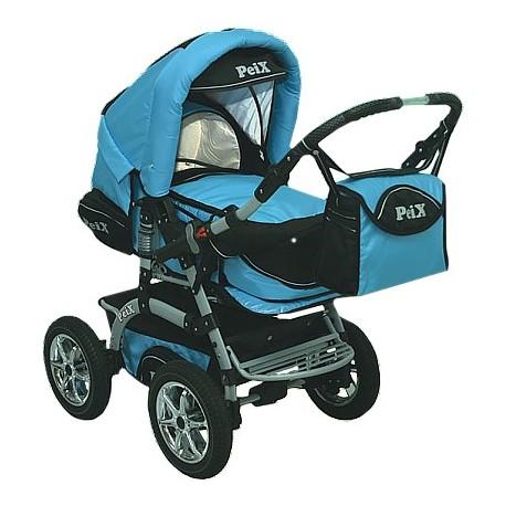 Wózek dziecięcy Peix 04 (niebieski + czarny)