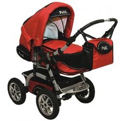 Wózek dziecięcy Peix 05 (czerwony + czarny)