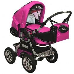Wózek dziecięcy Krasnal PEIX (różowy+czarny)