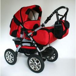 Wózek dziecięcy Szymek LUX (czerwony + czarny)