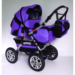 Wózek dziecięcy Szymek LUX (fioletowy + czarny)