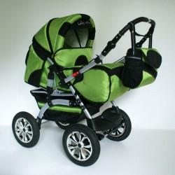 Wózek dziecięcy Szymek LUX (zielony + czarny)