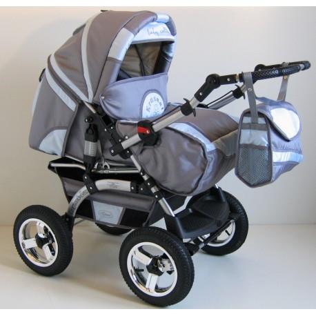 Wózek dziecięcy Szymek LUX BC-05 (grafit + niebieski)