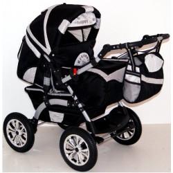 Wózek dziecięcy Szymek LUX (czarny + srebrny)