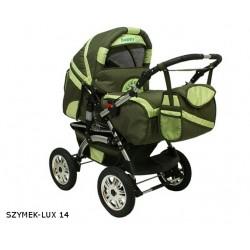 Wózek dziecięcy Szymek LUX 014 (oliwka + pistacja)
