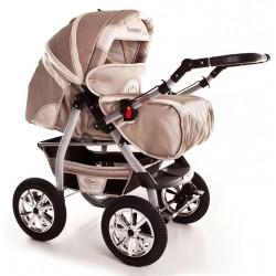 Wózek dziecięcy Szymek NEW 011 (cappuccino + beż)