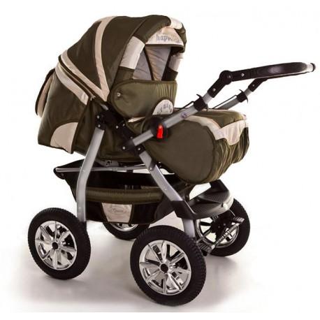 Wózek dziecięcy Szymek NEW 012 (oliwka + beż)