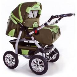 Wózek dziecięcy Szymek NEW 014 (oliwka + pistacja)