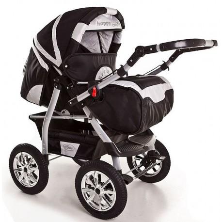Wózek dziecięcy Krasnal Szymek NEW (czarny + srebrny)