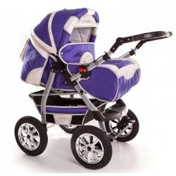 Wózek dziecięcy Szymek NEW 03 (fiolet + beż)