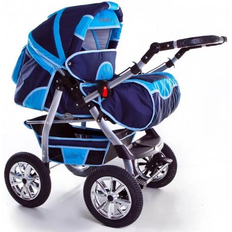 Wózek dziecięcy Szymek NEW 04 (granat + ciemny niebieski)
